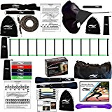 Victorem Ultimate Speed & Agility Training Set – Speed Bands, Parachute, Overspeed Bungee, Running Ladder– Physical Fitness Workout Set – Muscle Endurance - Football, Basketball, Soccer, Track & Field