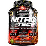 MuscleTech NitroTech Protein Powder, 100% Whey Protein with Whey Isolate, Milk Chocolate, 4 Pound