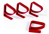 Camco Tablecloth Clamps - Secures Tablecloth onto Table In Windy Conditions, Great for Patio and Park Bench Tables - 4 Pack Red (44003)