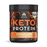 Ancient Nutrition KetoPROTEIN Powder Chocolate, 17 Servings - Keto Protein Diet Supplement, High Quality Low Carb Proteins and Fats from Bone Broth and MCT Oil