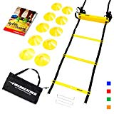 FireBreather Training Agility Ladder and Cones (Yellow, 10 Cones)