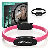URBNFit Pilates Ring - Body Toning Pilates Magic Circle and Resistance Exercise Fitness Ring - Exercise Equipment for Home Gym Weight Loss- Free Workout Guide Included