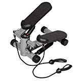 Giantex Air Stair Climber Stepper Exercise Machine Aerobic Fitness Step Equipment Bands (Black)