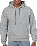 Gildan Men's Heavy Blend Fleece Hooded Sweatshirt G18500, Sport Grey, Medium