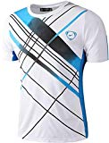 Sportides Men's Sports Breathable Quick Dry Short Sleeve T-Shirts Tee Tops Running LBM901 White S