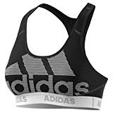 adidas Don't Rest Alphaskin Sport Logo Bra, Black/White, Small