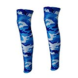 TZTED Leg Sleeves Sun Protective Cooling Sleeves Leg Warmer for Youth Men Women Football Basketball Cycling,S