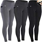 FITTIN Yoga Workout Leggings 3-Pack - Power Flex Pants for Fitness Running Sports Medium