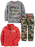 Simple Joys by Carter's Baby Boys' Toddler 3-Piece Playwear Set, Camo, 4T