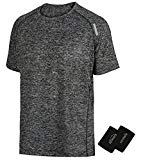 LIFINAIS Men's Athletic T-Shirt Workout Sports Tech Short Sleeve tee Shirts Gym Dri Fit Training Clothes