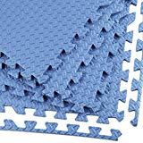 Clevr 24 sq. ft (6 Pieces) Interlocking Gym EVA Foam Floor Mat Tiles (24