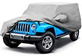 Leader Accessories Compatible For Jeep Wrangler 4 Door Custom Car Cover 5 Layer Waterproof