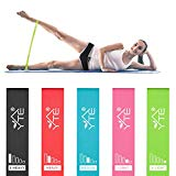 YTE Resistance Bands Exercise Loop with Instruction Guide, Set of 5 Workout Band with Carry Bag for Stretching, Home Fitness, Physical Therapy