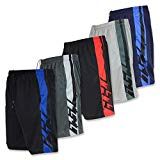 Real Essentials Mens Active Athletic Performance Shorts with Pockets - Set 2-5 Pack, M