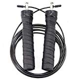 Jump Rope Workout Speed Rope for Adult Men and Women Skipping Rope for Speed Jumping Boxing Double Unders Gym Crossfit Cardio Training MMA Fitness Agility Adjustable Light 10 ft Cable Ball Bearing