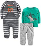 Simple Joys by Carter's Baby Boys' 3-Piece Playwear Set, Turquoise/Gray Dino, 24 Months