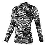 DRSKIN Compression Tight Shirt Baselayer Running Shirt Top Yoga Rash Guard Women (SMGY32, L)
