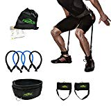 FIGROL Vertical Bounce Trainer Leg Resistance Bands Set-Leg Strength Muscle Workout - for Basketball Football Taekwondo Yoga Boxing Explosive Power Training