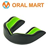 Oral Mart Black/Green Youth Mouthguard for Kids - Youth Mouthguard for Karate, Flag Football, Martial Arts, Taekwondo, Boxing, Football, Rugby, BJJ, Muay Thai, Soccer, Hockey (with Free Case)