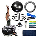 Gearrific Exercise Ball, Stability Base & Resistance Bands Set + Free Pump, Jump Rope, Workout Bands, Gym Towel & Water Bottle