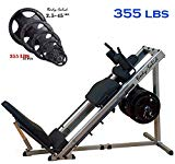 Body-Solid Leg Press and Hack Squat Machine (GLPH1100) with Rubber Grip Olympic Plates (with Olympic Plates Set, 355-Pound