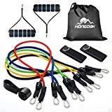HONGDAK Resistance Bands, Exercise Bands for Training, Physical Therapy, Home Workouts, Workout Bands Set with Door Anchor, Ankle Straps