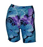 Private Island Hawaii Women UV Rash Guard Skinny Shorts Pants Leggings, Workout Outdoor Yoga/Fitness/Running Clothing (X-Large, Jade Violet)