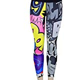 Geetobby Women Yoga Leggings Workout Fitness Sports Pants Stretch Print Trousers