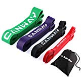 Canway Pull Up Bands - Set of 4 - Resistance Bands - Premium Latex Loop Stretch Workout/Exercise Band Mobility & Powerlifting Assist Bands for Body Fitness Training (Set of 4 Bands)