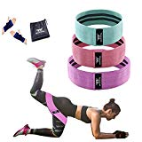 WOOSL Resistance Bands Booty Bands Loop Exercise Bands Workout Bands Hip Bands Booty Band with Fabric Anti-Slipping Glute Wide Resistance Bands for Legs and Butt Cotton Fitness Loop