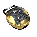 Shock Doctor Mouth Guard Case, CHROME GOLD