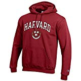 Elite Fan Shop Harvard University Hooded Sweatshirt Varsity Crimson - L