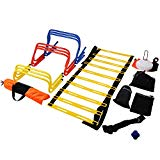 VEVOR Speed Agility Training Kit Combo Set Football Training Kit Exercise and Fitness Speed Training Equipment with Carry Bag for Both Junior and Senior Training (Ultimate Multi Speed Agility Kit)