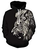 Belovecol Lion Graphic Hoodies for Men Hooded Sweatshirt Casual Sport Pullover with Pockets S